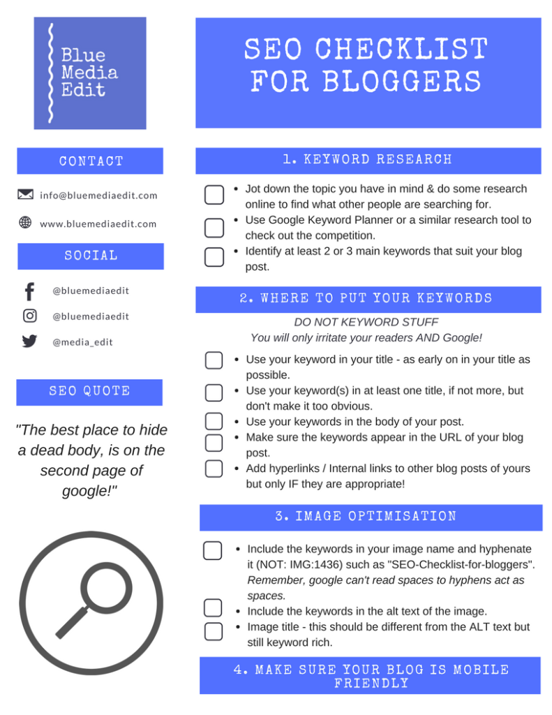 SEO-Checklist-for-bloggers
